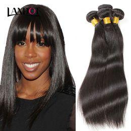 Wholesale Indian Remy Weave Shedding - Peruvian Indian Malaysian Brazilian Virgin Hair Straight Grade 7A Unprocessed Human Hair Weaves 3 4 5 Bundles Soft Tangle Free Not Shedding
