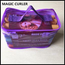 Wholesale Pink Sponge Curlers - 7 Inch 42-pack Twist-flex Rods DIY Magic Curler Foam Sponge Hair Roller With PVC Bag Fashion Free Shipping
