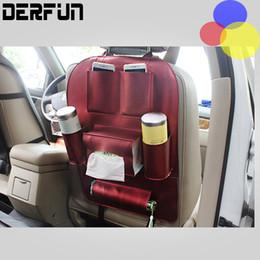 Wholesale High Back Car Seats - PU leather Holder Organizer Car cover Pocket Storage Bag Vehicle Seat Back Hanger Whloesale High Quality