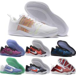 Wholesale Sneakers Size Online Cheap - 2016 New Cheap Kobe XI Elite Basketball Shoes Men Retro Kobe 11 Sneakers High Quality Online Original Discount BHM Sports Shoes Size 7-12