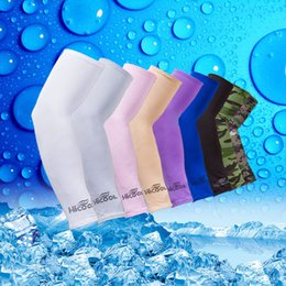 Wholesale Arm Stretch - Gardening Labor Anti UV Cooling Arm Sleeves Outdoor Sun Protection Elasticity Sleevelets Outdoior Sports Stretch #3909
