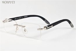 Wholesale Wood Framed Optical Glasses - France Design Wood Sunglasses For Men Women Buffalo Horn Glasses Optical Sunglasses Gold Wood Glasses Eyelgasses Frames Come With Boxes