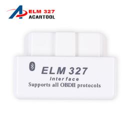 Wholesale Obd Android Torque - Super MINI ELM327 Bluetooth V2.1 OBD OBD2 White ELM 327 Works ON Android Torque white mini elm327 bluetooth free shipping