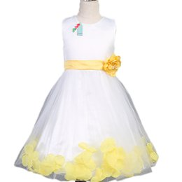 Wholesale Wedding Dress Wholesalers Europe - 2016 New Europe Style Childrens Dresses Fashion Sequin Princess Flower Grils Dress Party Wedding Evening Dresses Kids Baby Formal Wear