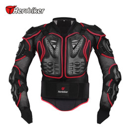 Wholesale Motorcycle Full Body - Herobiker Motorcycle Full Body Armor Jacket Motorcycle Armor Spine Chest Protection Gear Motorcycle Protective Motocross Armor