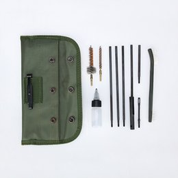 Wholesale Gun Rods - New Tactical M16 Rifle Gun Cleaning Kit Set Cleaning Rod Nylon Brush Cleaner Accessories Clean Tools