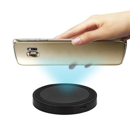 Wholesale Iphone Compatible Charger - Q5 Wireless Charger Phone Mount Charging Pad Qi Enabled Devices Compatible Android Mobile Phones For Samsung iPhone