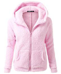 Wholesale Cheap Women S Outwear - Free Shipping Hoodied Pullover Women Overcoats Jackets Solid Straight Women Casual Outwears with Zipper Cheap Jackets de Femme FS1913
