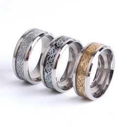 Wholesale Celtic Dragon Wedding Rings - Fine jewelry Dragon Design Stainless Steel Ring High Quality Men Man Jewelry Wedding Band Male Ring For Lovers