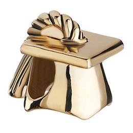 Chapeau ajusté d'or en Ligne-Usine de Shenzhen directement en gros placage à l'or appris savant Graduation Hat perle Fit Pandora DIY Charm Bracelet