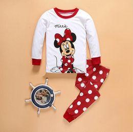Wholesale Minnie Pyjama - New Arrive Children Baby Girl's Kids Long Sleeve Pajamas Sets Retail Minnie Elsa Anna Girls Sleepwear Homewear Pyjamas Suits