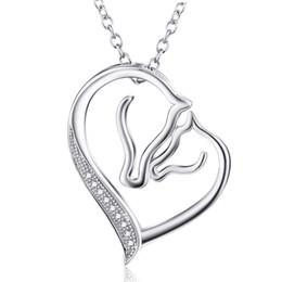 YFN Collier avec pendentif en forme de cheval licorne en argent sterling pour femmes et filles