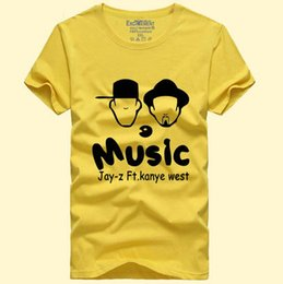 Jay Z T shirt Hip hop Kanye west short sleeve gown Rap music star tees  Leisure unisex clothing Quality cotton Tshirt be7a52822084