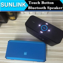 Wholesale Nfc Key - Smart K8 Touch Key Botton Bluetooth Mini Speaker NFC Stereo Hifi Bass Sound Wireless Subwoofer FM TF Card USB MP3 Music Player VS K3 K9 K7