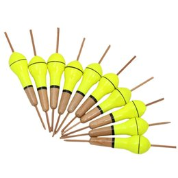 2019 señuelos de madera Venta al por mayor- 1 juego (10 piezas) Accesorios de pesca flotadores Stick Set Madera Bobbers Boyas Bobber Floater Espuma Flotante Señuelos Peche Para peces señuelos de madera baratos
