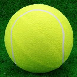 2019 große aufblasbare kugeln 9,5 Riesen Tennisball Für Haustier Kauen Spielzeug Große Aufblasbare Tennisball Unterschrift Mega Jumbo Pet Spielzeug Ball Liefert Outdoor Cricket rabatt große aufblasbare kugeln