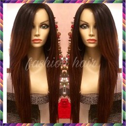 Wholesale Peruvian Auburn Full Lace Wig - 7A Full Lace Human Hair Wigs for Black Women Glueless Full Lace Wigs Indain Virgin Hair Straight Lace Front Human Hair Wigs