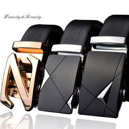 Wholesale Wide Belt Trend - New Fashion high quality designer belts Genuine Leather automatic buckle Men's Belt authentic girdle trend belts ceinture,cinto masculino