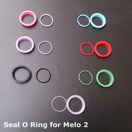 Selos de anel para atomizadores on-line-Anel de silicone O Colorido Silicon Seal O-rings substituição Orings Set para Ismael Eleaf Melo 2 Melo II Atomizador Melo v2.0 Tanque Rta