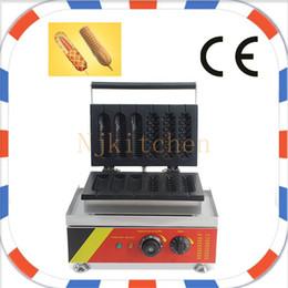Wholesale Waffle Hot Dog Machine - Commercial Use Non-stick 110v 220v Electric 6pcs French Hot Dog Waffle Dog Maker Iron Corn Dog Machine Baker