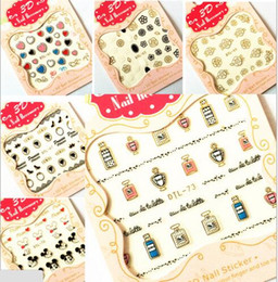 Wholesale Gold Stickers For Nails - Gold Silver 3D Nail Art Stickers Nail Decoration Design Brand Foils Beauty Stickers For Nails Accessories Decals Tool