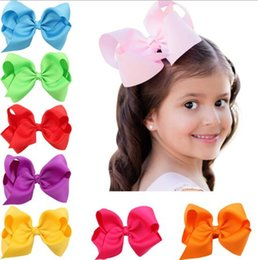 Wholesale Wholesale Hairpins - 16 colors baby girl cany color big bow barrettes Design Hair bowknot Children Headwear Kids Hairpin Girls Hair Clips Baby Hair Accessory