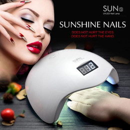 Wholesale Lcd Nail - Wholesale - 48W UV LED Lamp Nail Dryer SUN5 Nail Lamp With LCD Display Auto Sensor Manicure Machine for Curing UV Gel Polish