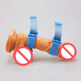 Wholesale Shock Penis Enlargement - Male Penis Enlargement Extender Product Electro Bands Conductive Ribbon Adjustable Cock Ring DIY Electric Shock Sex Toy Fittings, 6pcs lot