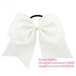 Wholesale Orange Ponytails - 100pcs Ponytail Holder Custom Team Hair Bow - Girls Hair Bows