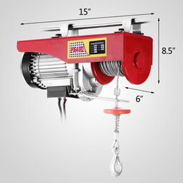 Wholesale Cable Hoists - New 440lbs Mini Electric Hoist Crane Overhead Garage Winch Remote Control Auto Lift
