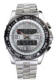 Wholesale Multifunction Quartz Movement - Luxury Brand Men Watches Men's Watch Quartz Movement Multifunction AIRWOLF Classic Stainless Steel Led Man Wristwatch