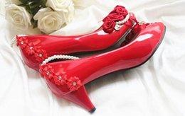 Wholesale Bridesmaid Dress 22 - Red diamond wedding shoes in the shoe merchandiser bride wedding dress shoes shoes multicolor rose bridesmaid@22