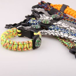 Wholesale Climbing Equipment Wholesale - Multifunctional Survival Compass Paracord Bracelet ignition W S TANG New rescue and escape rope climbing rope outdoor equipment
