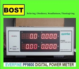 Wholesale Electric Digital Power Meter - EVERFINE PF-9800 Digital Power Meter Intelligent Electric Measuring Instrument PF9800 Power Meters 4 displays: V, A, W, PF 3-600V 5mA-20A