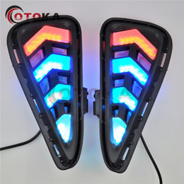 Wholesale Led Light Bulbs Toyota Camry - 2PCS LED DRL Daytime Running Lights front Day driving bulb Fog lamp with Turn Signa light For Toyota Camry 2015 2016