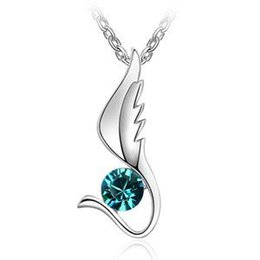 Wholesale Invisible Wings Pendant - Austrian crystal necklace - Invisible Wings-colours