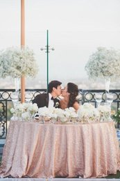 Wholesale Wedding Cake Covers - rose gold sequin table cloth Covered pub tables and sequined table clothes Wholesale Design Wedding Party Glitter Sequin Table Cloth