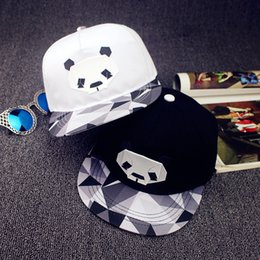 Wholesale Snapback Plastics - 2016 Hot Baseball caps Hip Hop Ball Caps Hats for Men Women Fashion Panda Plastic caps Snapback caps adult adjustable sport