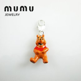 Wholesale Teddy Pendant Chain - Fashion Diy Jewelry Findings & Components Teddy Bear Pendant Silver Shark Thomas Charms For European Pendant Chains Free Shipping