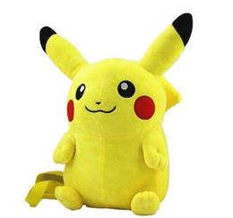 "Wholesale Soft Plush Backpack Bag - 16 ""Poke plush toy Pikachu Soft Plush Yellow Backpack Shoulder plush Bag Stuffed Animal Soft plush Bag"