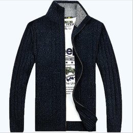 Wholesale Cardigan Sweater Brown - free shipping solid colors mens sweater 2018 new casual cardigans sweaters plus size M-3XL free shipping