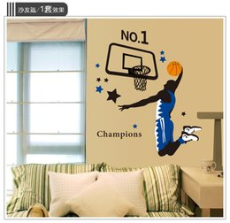 Wholesale Slam Dunk Stickers - ome Decor Wall Sticker Playing Basketball Sports Wall Stickers Home Decoration for Kids Rooms Slam Dunk Wall Decals Art Bedroom Wallpaper...