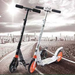scooters électriques roulants pour adultes Promotion Gros-professionnel adulte pliable scooter 2 roues d'absorption non électrique 100KG roulement en aluminium alliage Hoverboard chaud vente