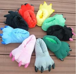 Wholesale Black Bear Paw Slippers - Wholesale Cartoon Bear Claw and Claw Slippers, Home Shoes, Winter Toe and Paw Lovers Bag and Cotton Slippers, Winter Parent-Child Shoes