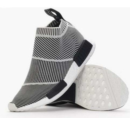Wholesale Casual Women Shoes Laced Up - Hot Nmd City Sock Men Women Shoe,Men NMD CS1 City Sock PK (Core Black Vintage White Ftwr White Casual Sports Shoes S79150 Footwear Eur 36-44