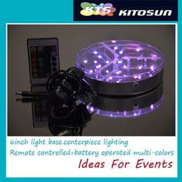 Wholesale Decoration Beach - LED Round Outdoor Light !!! Mirror Design Wedding Beach Item Glass Vase Flower Candle Light Base for Wedding Table Centerpieces