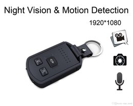 Wholesale Camera Av Out - S4 Promotion Rushed Car Key Spy Dv H.264 Full Hd 1080p Camera Keychain Dvr Video Motion Detection Night Vision Mini AV-OUT