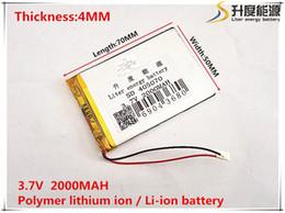 Wholesale Mp5 Model - atteries Digital Batteries 3.7V,2000mAH,[405070] PLIB; polymer lithium ion   Li-ion battery for GPS,3,mp4,mp5,dvd,bluetooth,model toy bat...