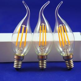 lampadine 3x3w e14 Sconti 16 pz / lotto 4 W LED Candle Light E14 AC220V Dimmerabile LED Lampadina a filamento LED Lampada ad alta potenza Spedizione gratuita