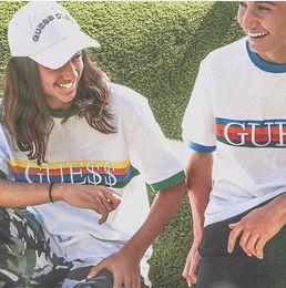 Wholesale T Shirt Printed Logo - 2 Colors ASAP Rocky David Reactive SS 17 Blue Collar Logo Gosha Rubchinskiy Tee T-Shirts A$AP Ian JEANS Size S-XL
